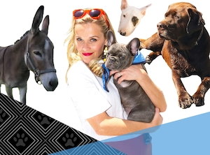 Pet Week, Celebrities with Lots of Animals, Reese Witherspoon