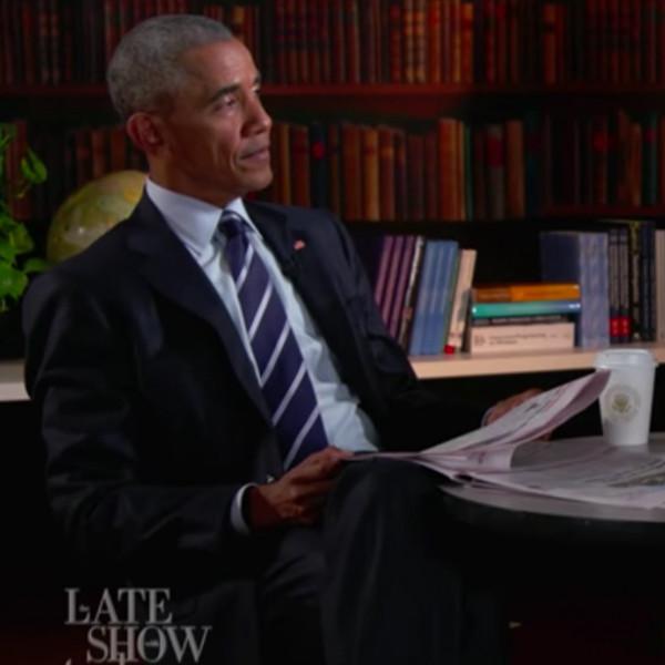 President Barack Obama, Stephen Colbert, The Late Show