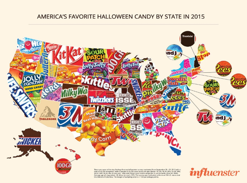 Halloween Candy By State