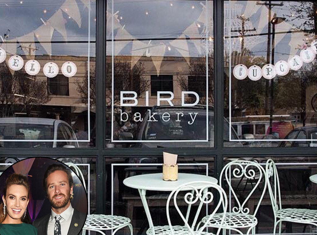 Elizabeth Chambers, Armie Hammer, BIRD bakery