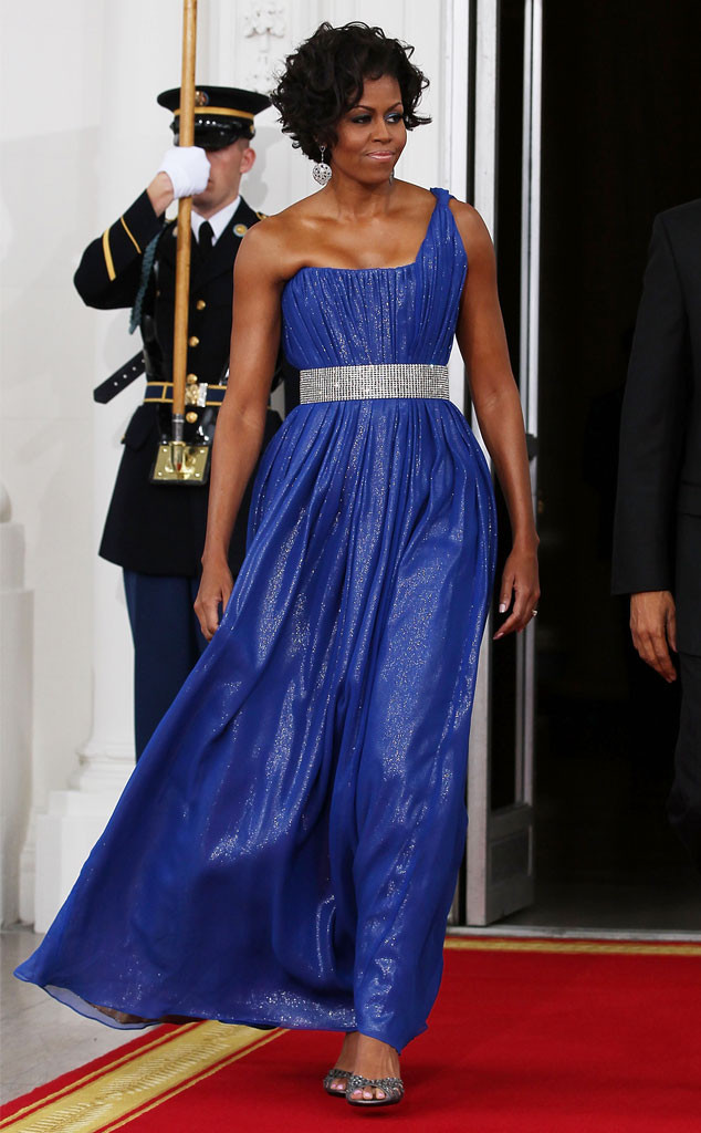 Michelle Obama S State Dinner Style Rewind All The Colors