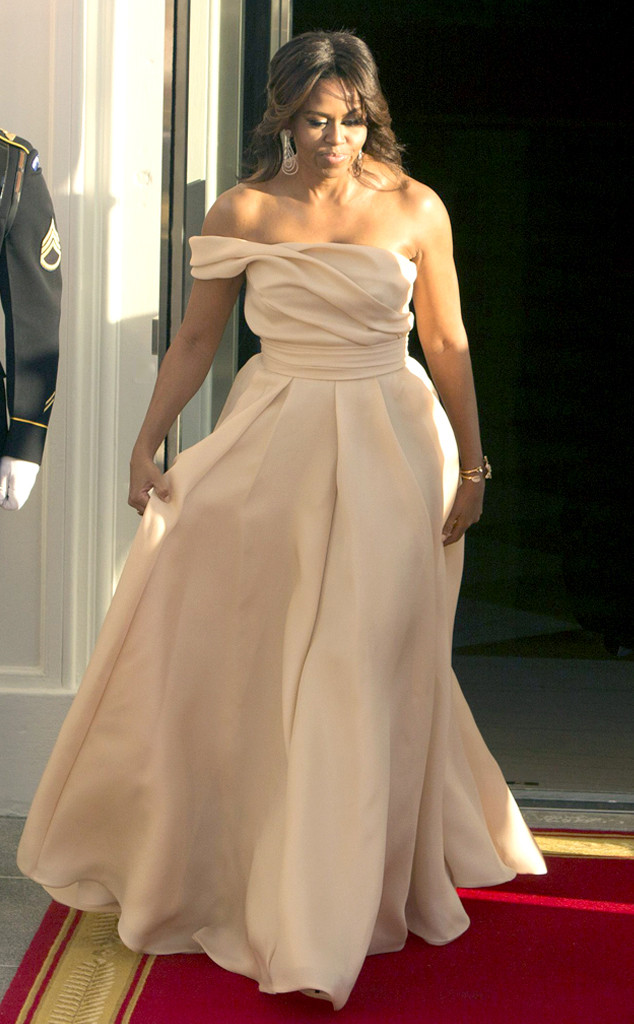 State Dinner Fashion, Michelle Obama