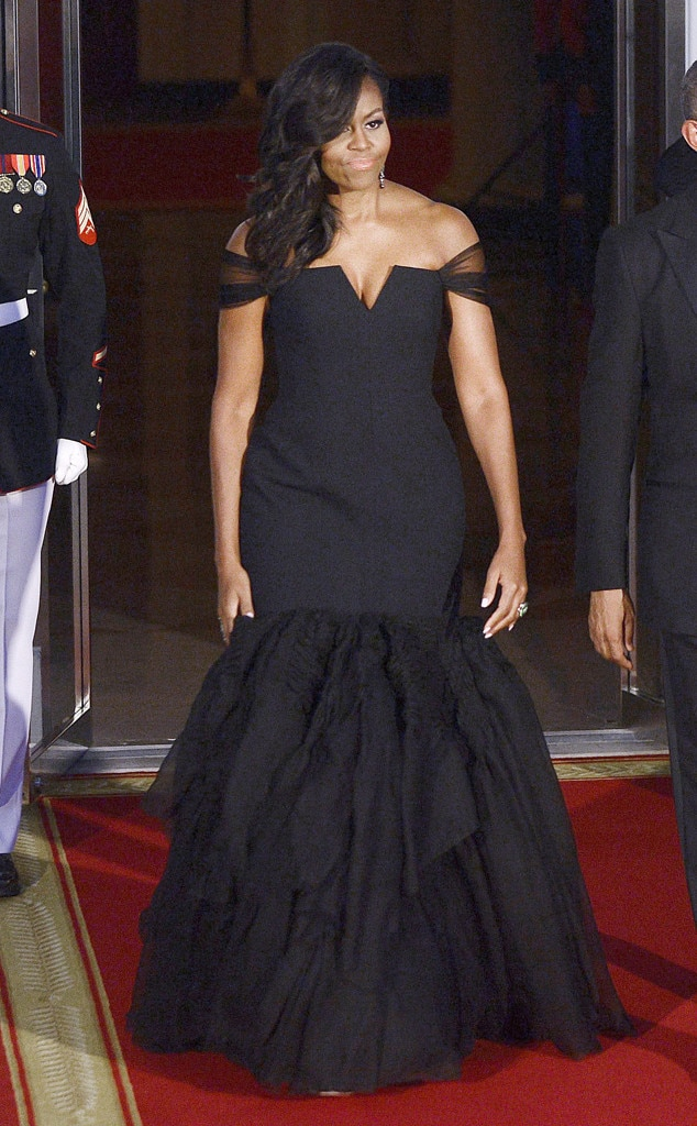Michelle Obama, State Dinner Fashion