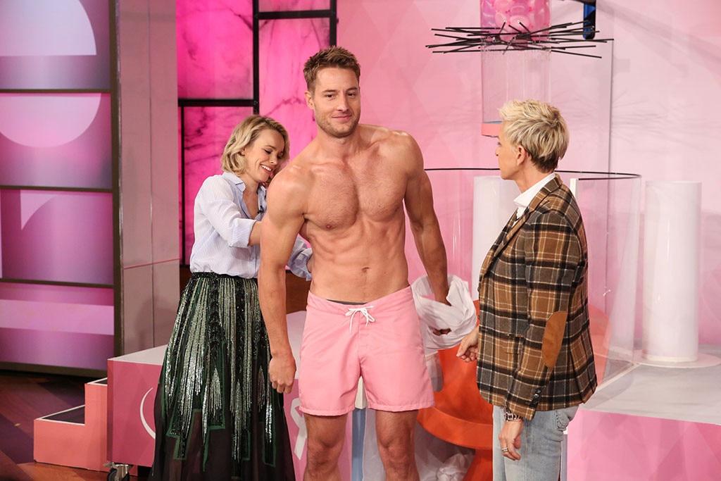 Justin Hartley, Ellen DeGeneres, Shirtless