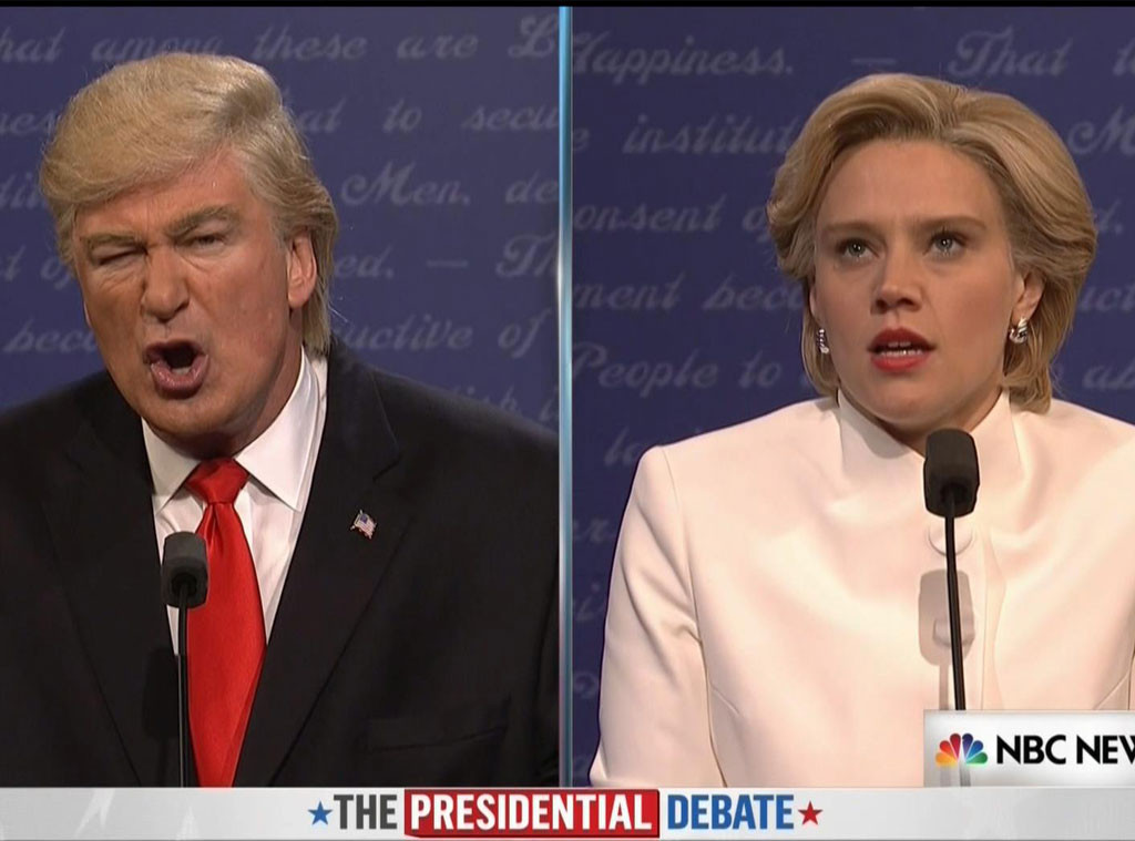 Alec Baldwin, Kate McKinnon, 3rd Debate, Trump, Clinton, Saturday Night Live