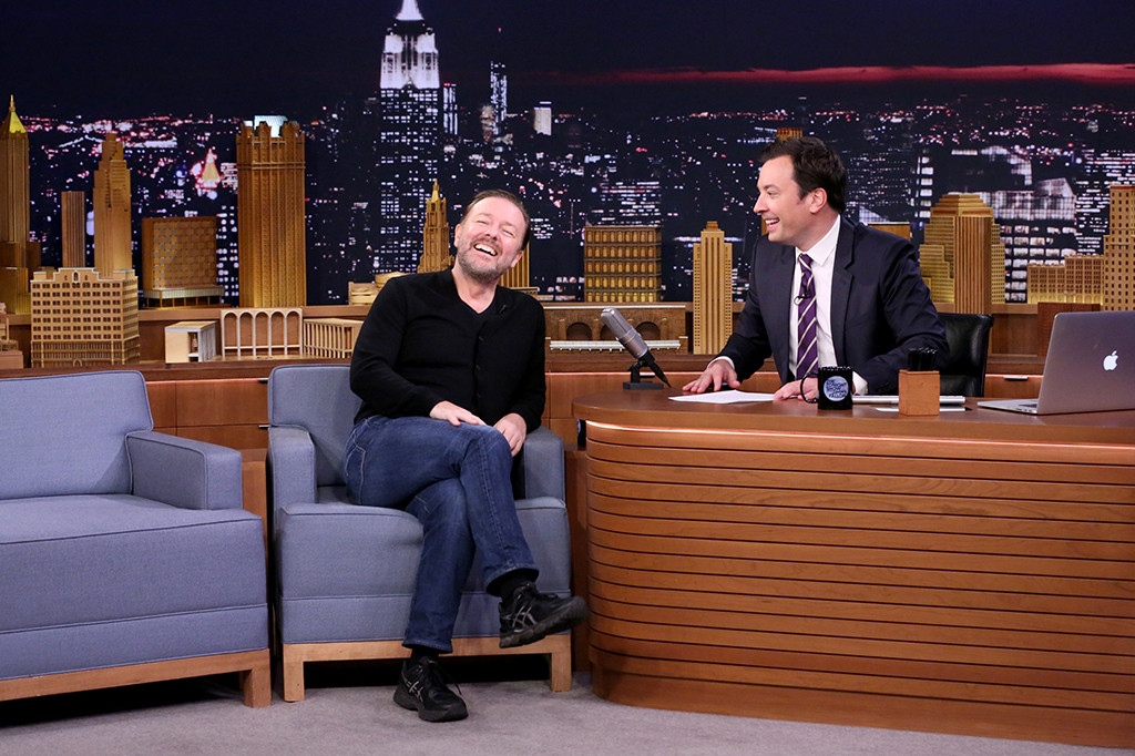 Ricky Gervais, Jimmy Fallon, The Tonight Show