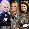 Dolly Parton, Carrie Underwood, Shania Twain