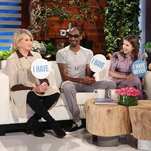 Martha Stewart, Snoop Dogg, Anna Kendrick, Ellen DeGeneres