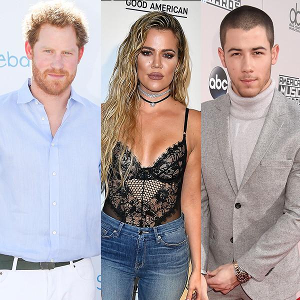Prince Harry, Khloe Kardashian, Nick Jonas