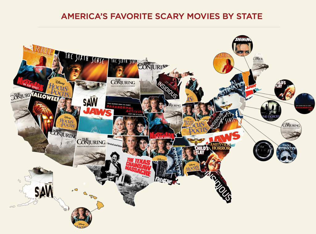 Scary Movies By State, Influenster