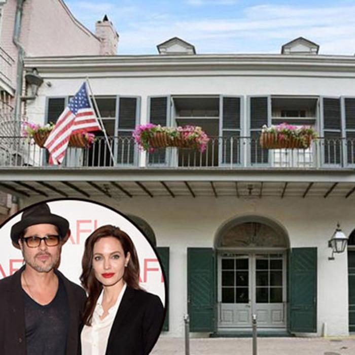 Brad Pitt, Angelina Jolie, New Orleans Home