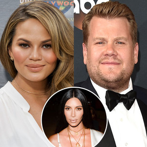 Chrissy Teigen, James Corden, Kim Kardashian