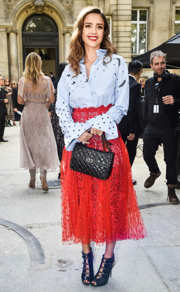 Jessica Alba From Best Celeb Street Style From Paris Spring 2017 E News