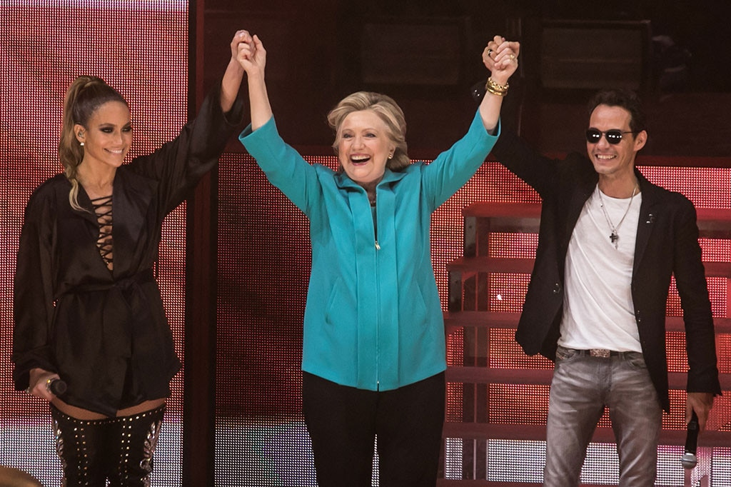 Jennifer Lopez, Hillary Clinton, Marc Anthony