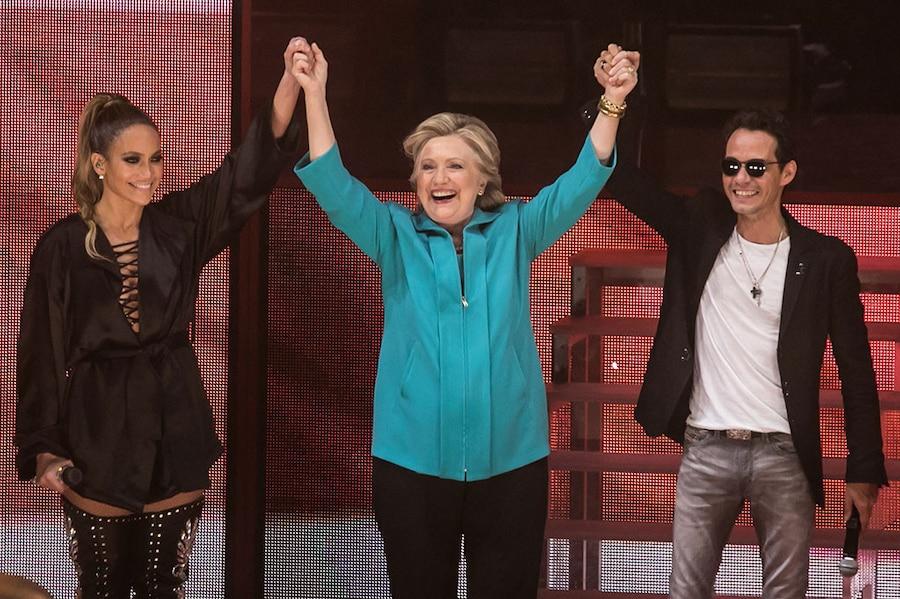 Jennifer Lopez, Hillary Clinton, Marc Anthony