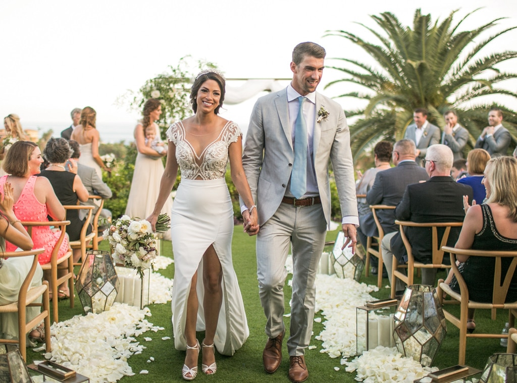 Michael Phelps And Nicole Johnson Share Photos From Their Second Wedding Ceremony In Cabo E News