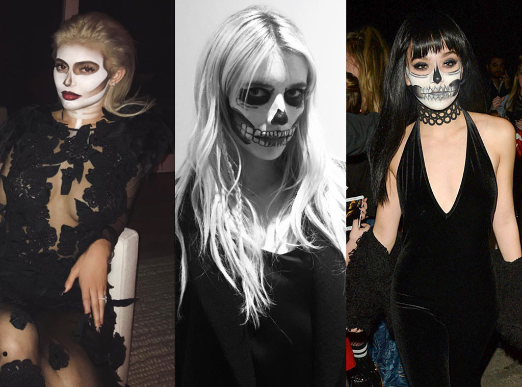 Kylie Jenner, Emma Roberts, Hailee Steinfeld, Skeleton, Halloween