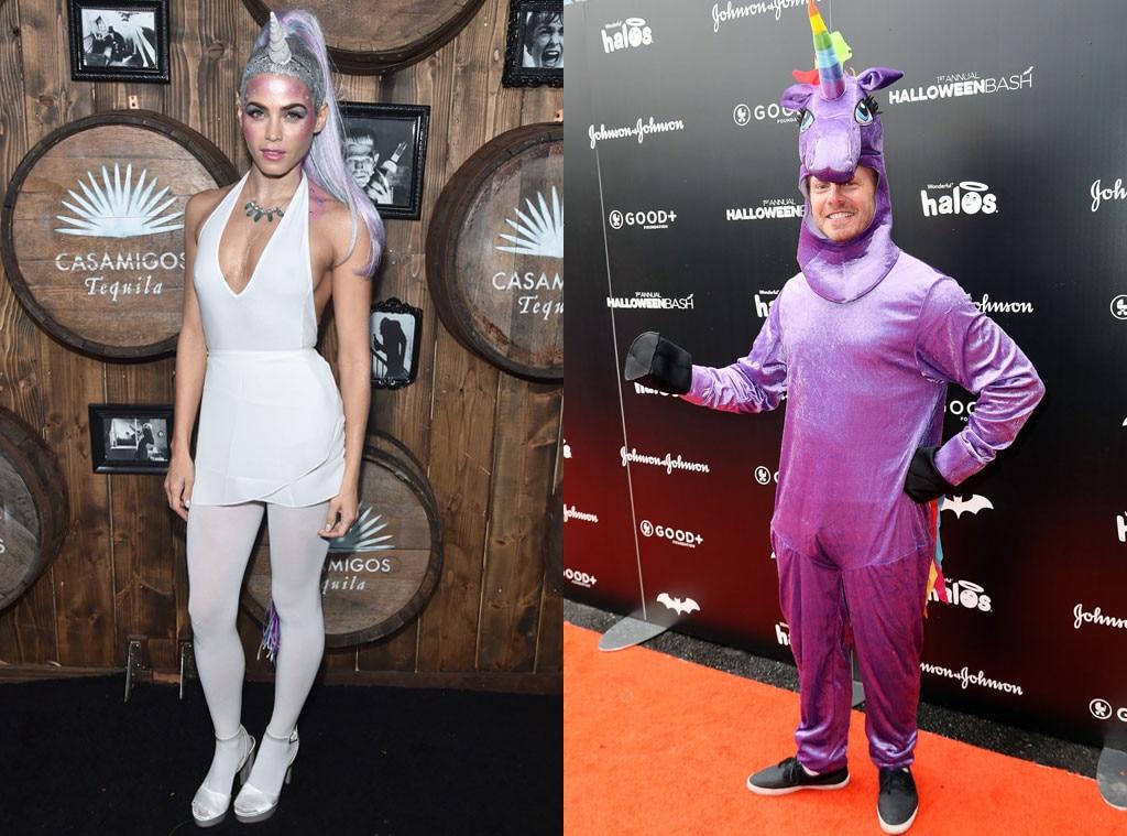 Jenna Dewan Tatum, Ian Ziering, Unicorn, Halloween