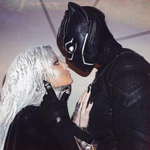 Khloe Kardashian, Tristan Thompson, Halloween, Kissing, PDA