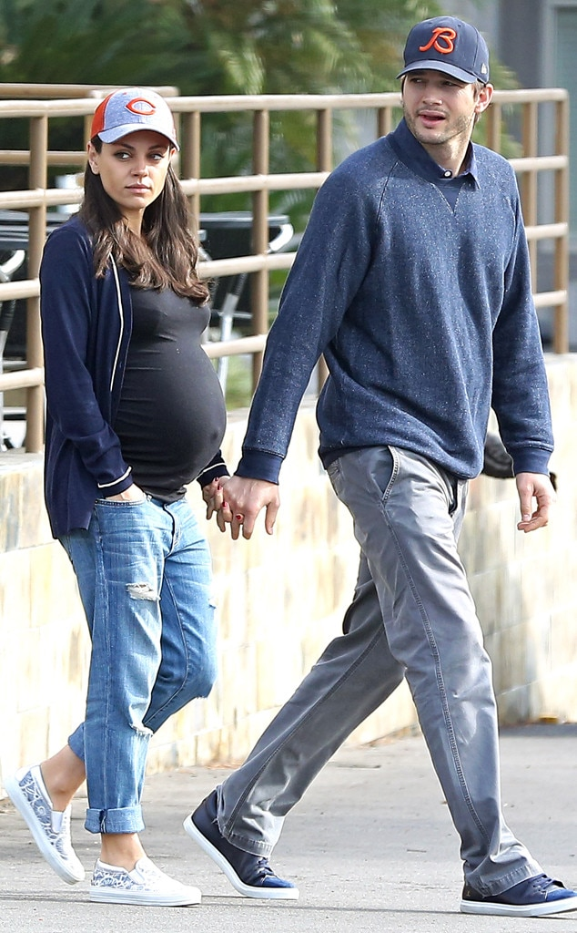 inside mila kunis last few weeks of her second pregnancy