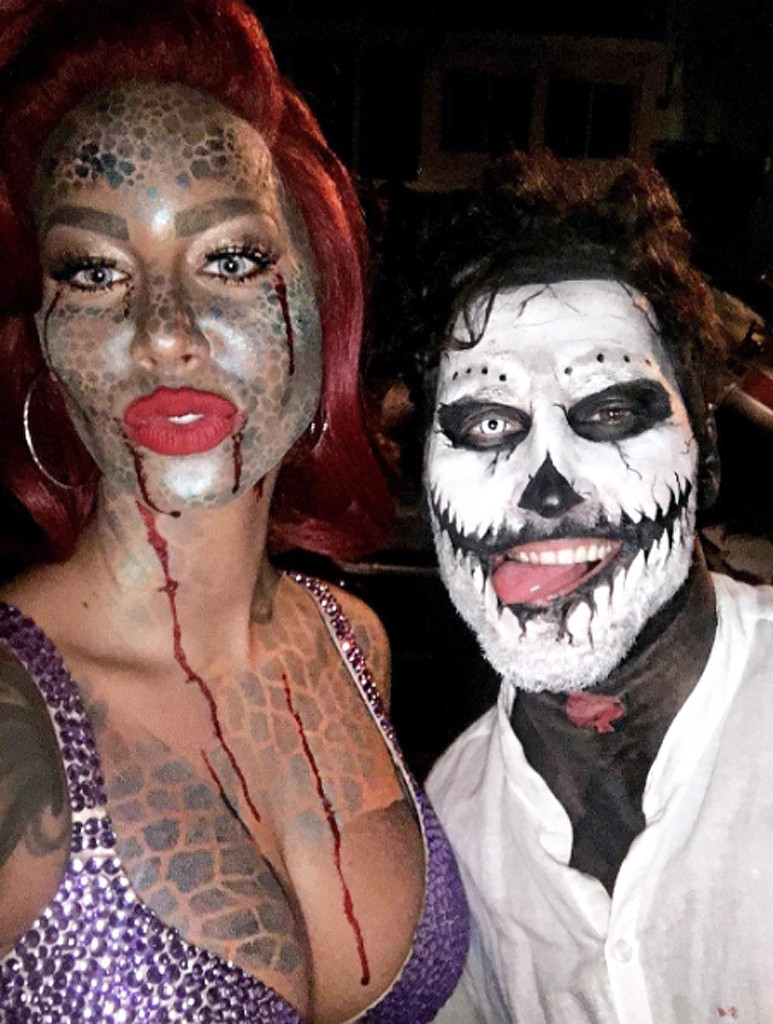 Amber Rose and Val Chmerkovskiy Get Grabby and Spooky During ...