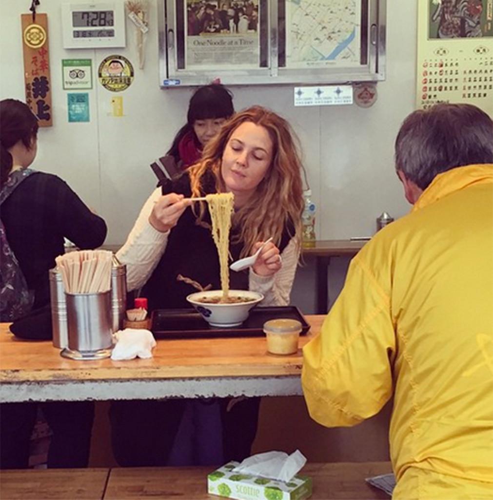 Drew Barrymore Instagram, Noodles