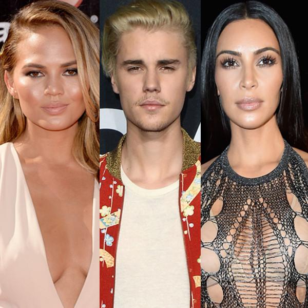 Chrissy Teigen, Justin Bieber, Kim Kardashian