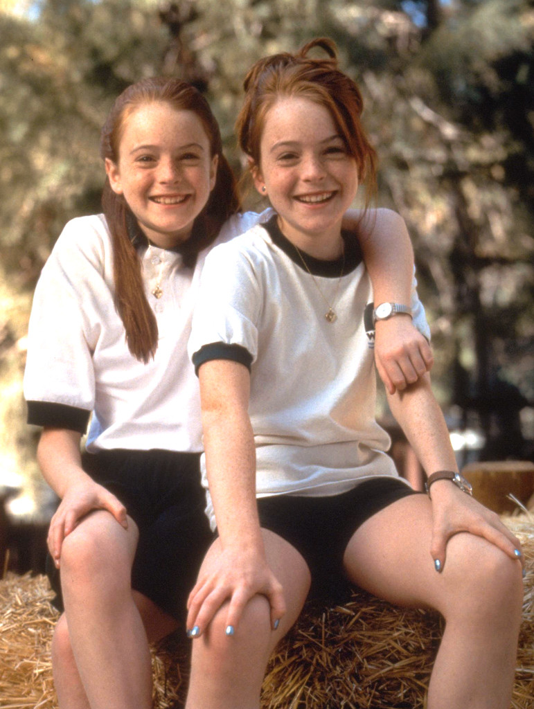 lindsay lohan the parent trap from stars playing onscreen twins e news. Black Bedroom Furniture Sets. Home Design Ideas