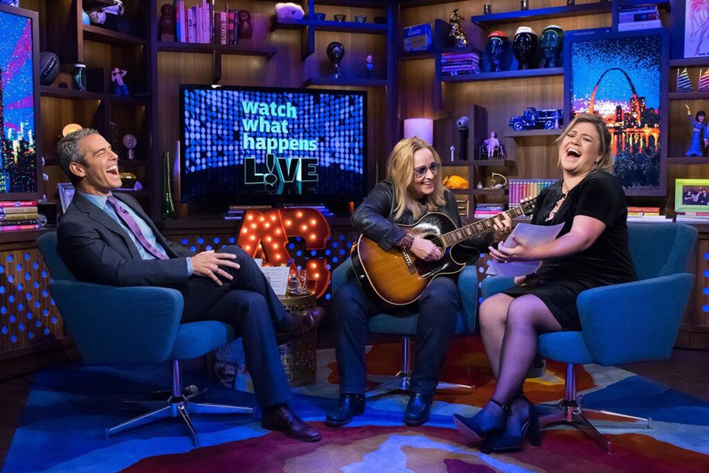 Melissa Etheridge, Andy Cohen, Kelly Clarkson, Watch What Happens Live