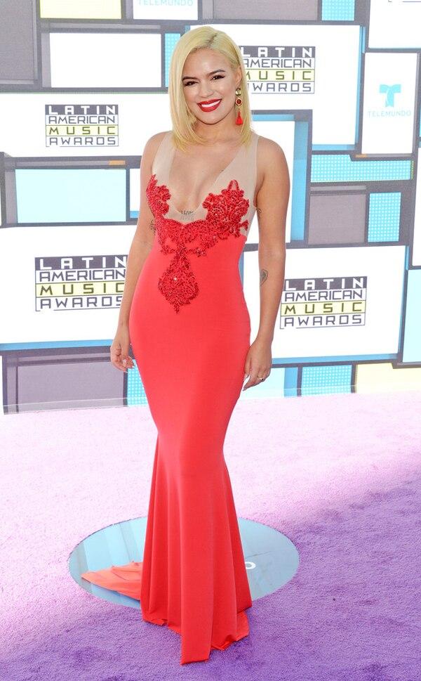 Karol G From Latin American Music Awards 2016 Red Carpet