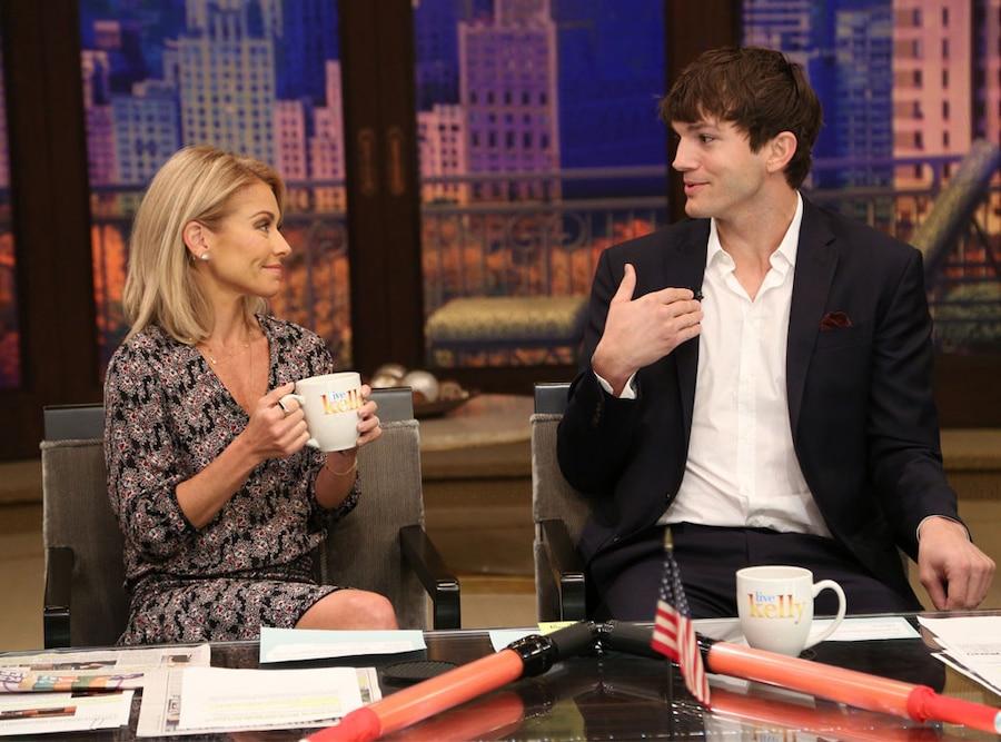 Ashton Kutcher, Kelly Ripa, Live with Kelly
