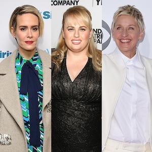 Sarah Paulson, Rebel Wilson, Ellen DeGeneres