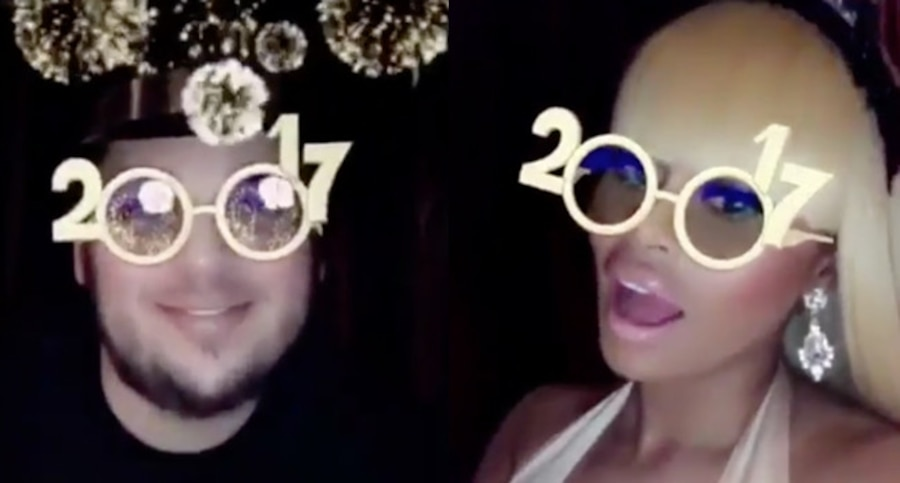 Rob Kardashian, Blac Chyna, New Year's Eve 2016
