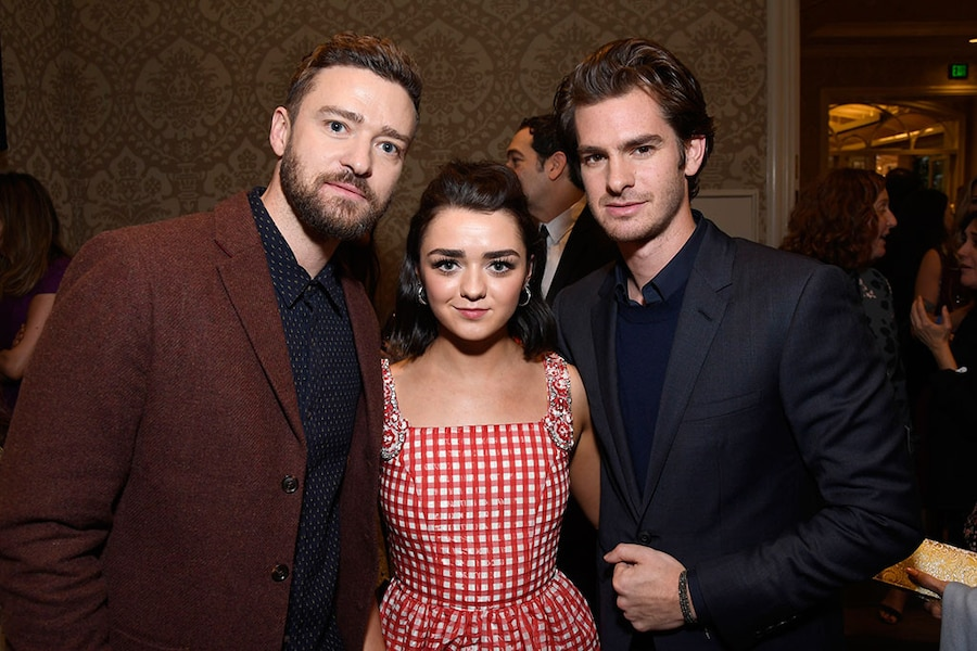 Justin Timberlake, Andrew Garfield, Maisie Williams, Golden Globes Party Pics