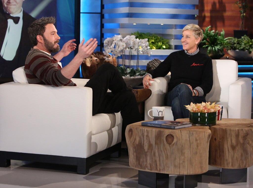 Ben Affleck, Ellen DeGeneres