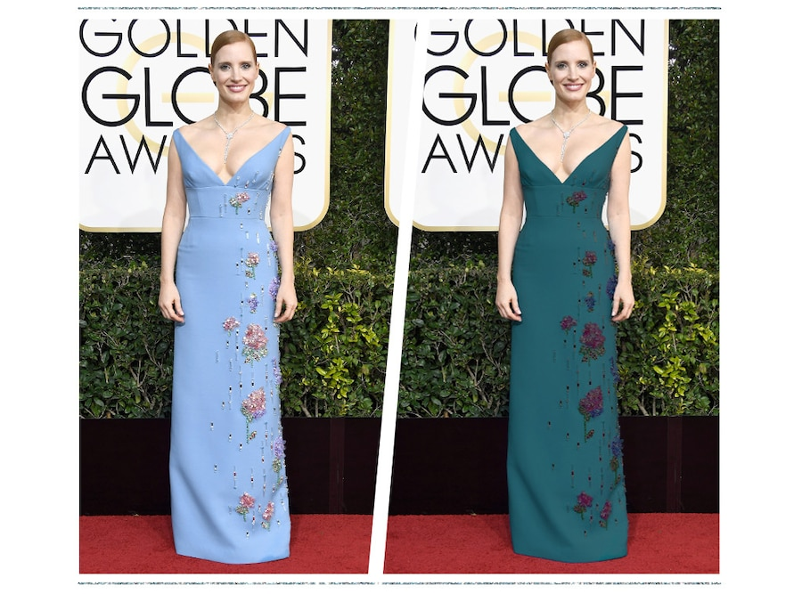 ESC: Golden Globe Color Swap, Jessica Chastain