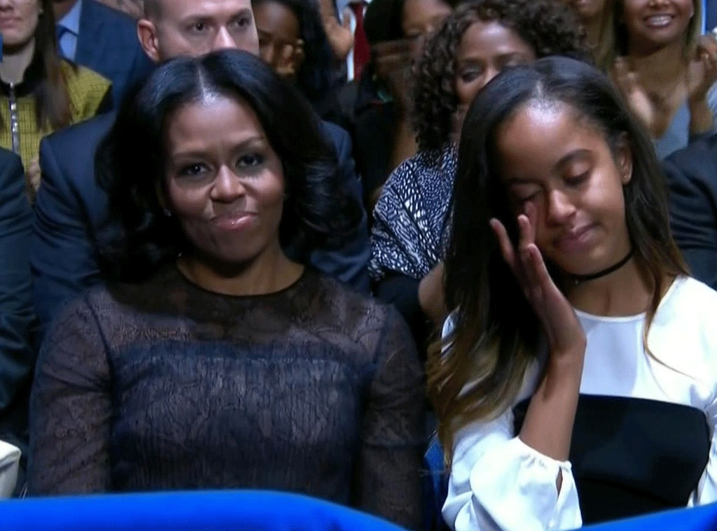 Malia Ann Obama >> Why Sasha Obama Missed President Barack Obama's Farewell Speech | E! News