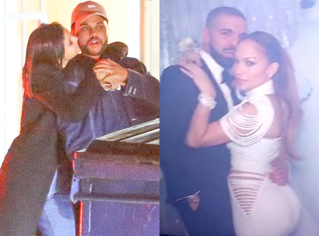 Selena Gomez, The Weeknd, Drake, Jennifer Lopez
