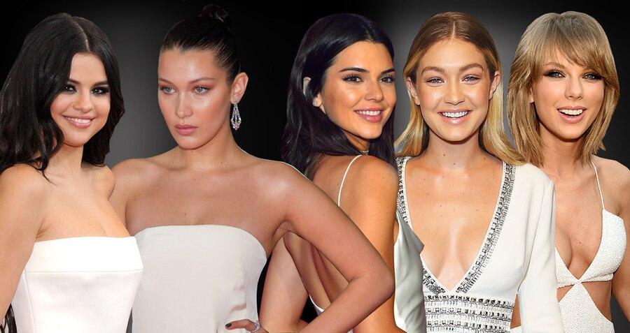 Selena Gomez, Bella Hadid, Kendall Jenner, Bella Hadid, Taylor Swift