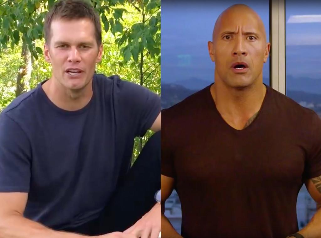 Tom Brady takes on The Rock