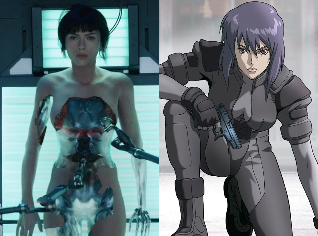 Scarlett Johansson, Ghost in the Shell, Motoko Kusanagi