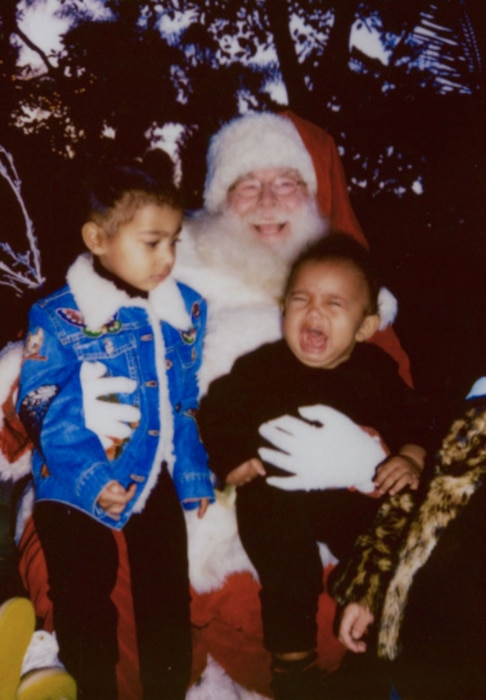 North West, Saint, Kim Kardashian West, Santa