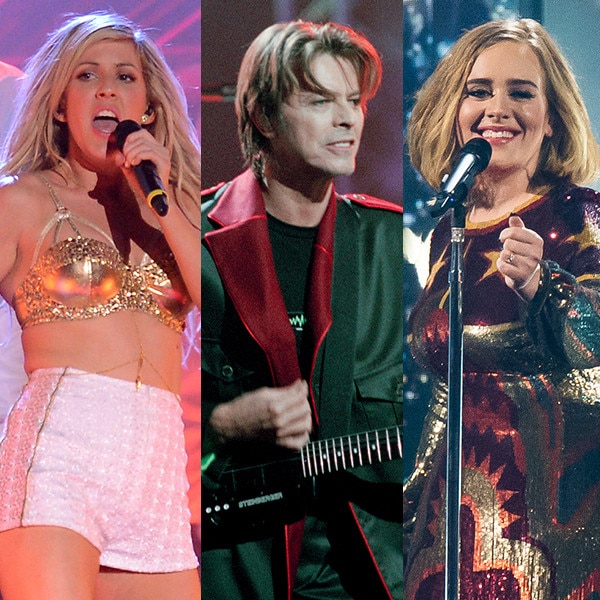 Ellie Goulding, David Bowie, Adele