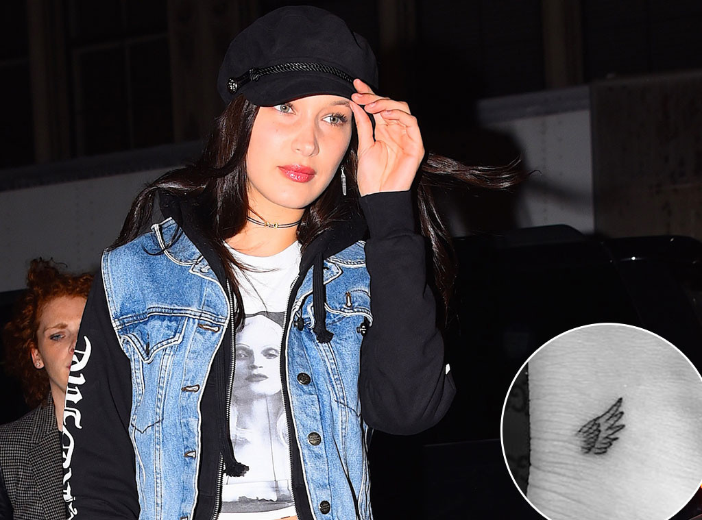 bella hadid earns her own pair of angel wings with two new