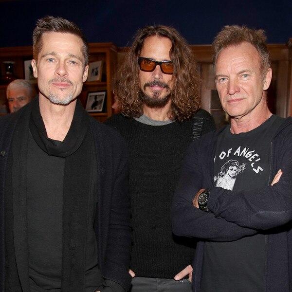 Brad Pitt, Sting, Chris Cornell
