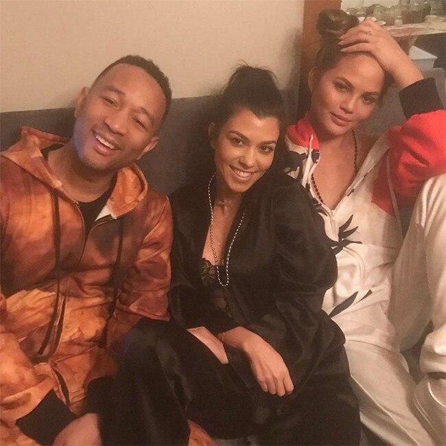 Kourtney Kardashian, Chrissy Teigen, John Legend