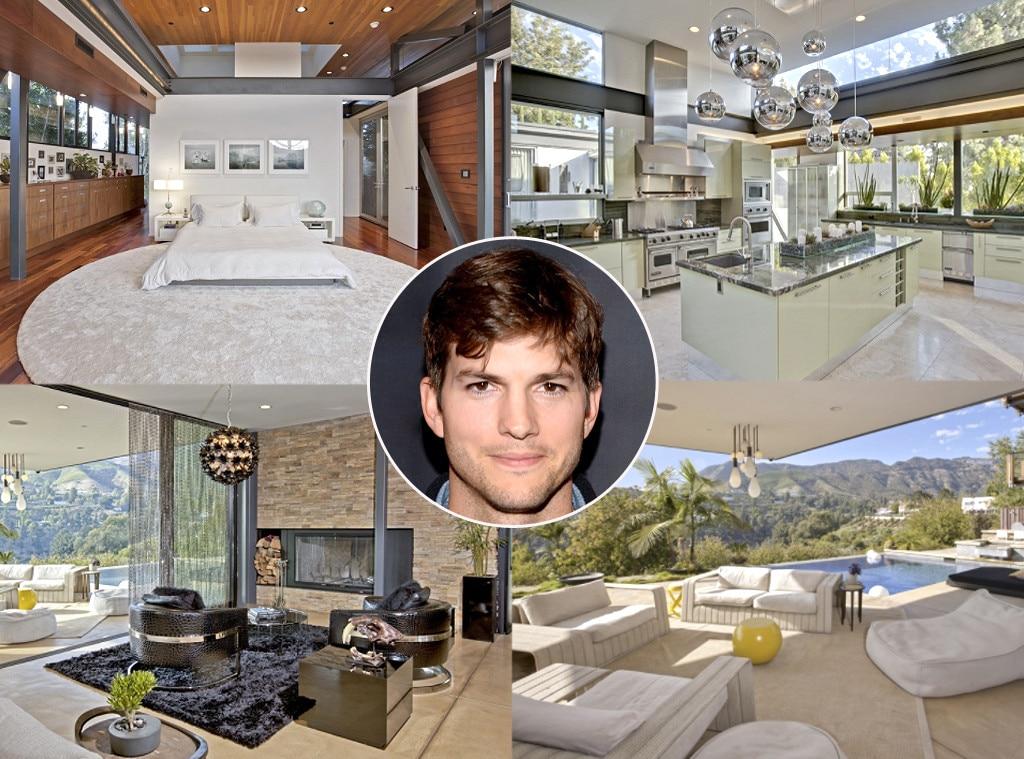 Celebrity Bachelor Pads, Ashton Kutcher