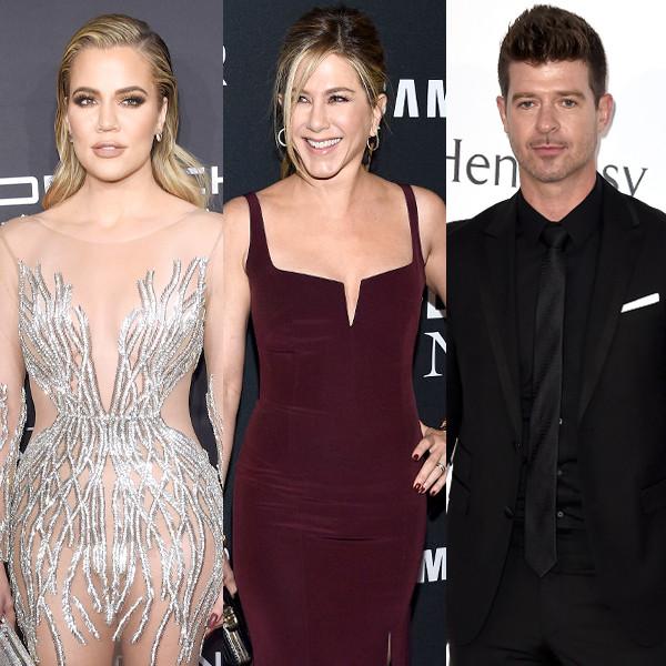 Khloe Kardashian, Jennifer Aniston, Robin Thicke