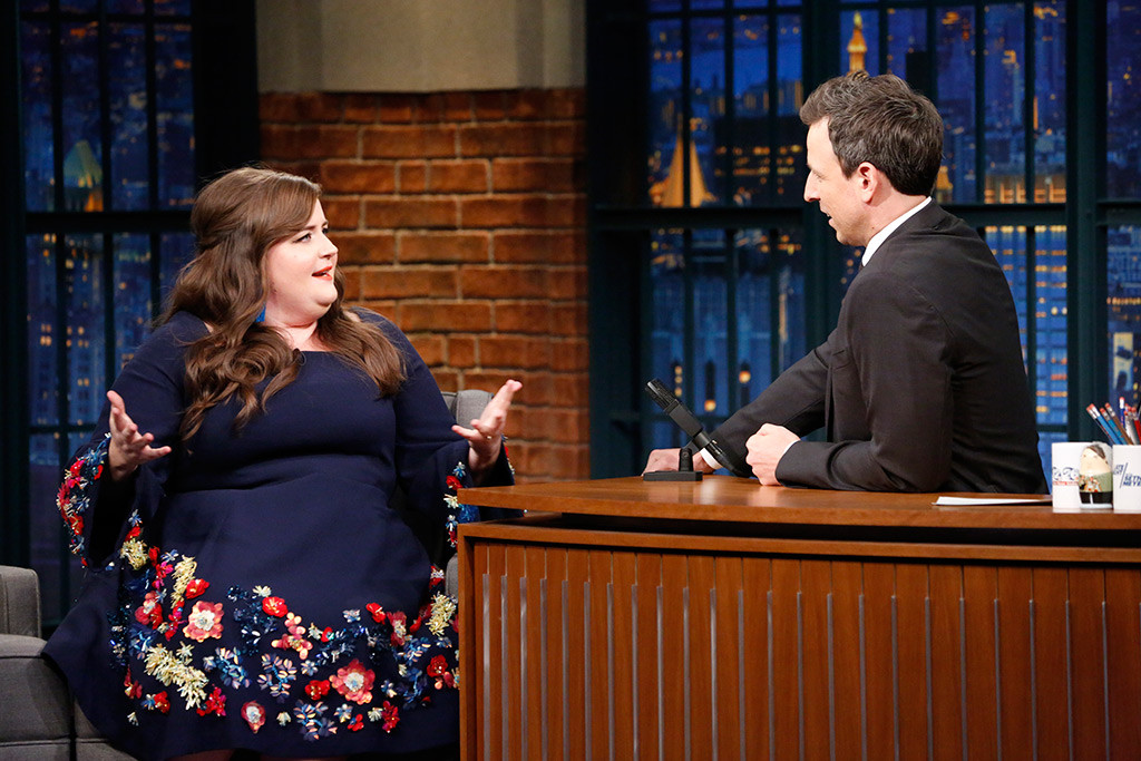 Aidy Bryant, Seth Meyers, Late Night