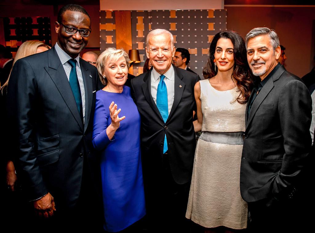 Tidjane Thiam, Tina Brown, Joe Biden, George Clooney, Amal Clooney